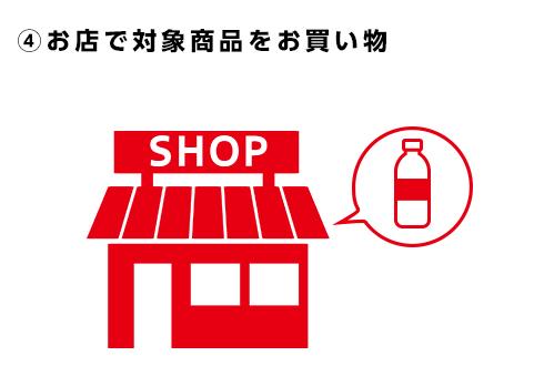 ④お店で対象商品をお買物